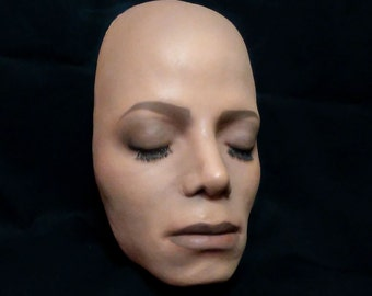 Michael Jackson Thriller Figure Life cast painted Lifesize head in resin 1983 king of pop prop stand MJ Vintage Doll