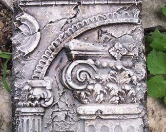 Roman Column architectural fragment Sculptural Wall frieze plaque relief www.Neo-Mfg.com 9""