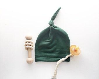 Beanie/Hat - Infant Beanie in Hunter Green