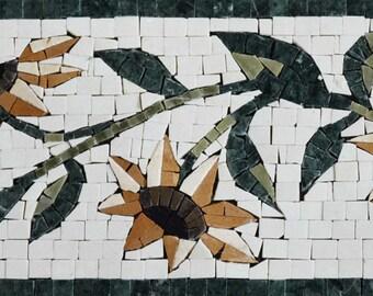 Mosaic Border Tiles - Sunflower