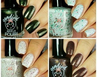 Holiday Collection- Set of 4 Polishes: Hand Mixed 5 Free Indie Polish