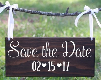 Custom Date Engagement Sign, Custom Save the Date Sign, Custom Date Wood Engagement Sign, Save the Date Sign, Save the Date Wood Sign