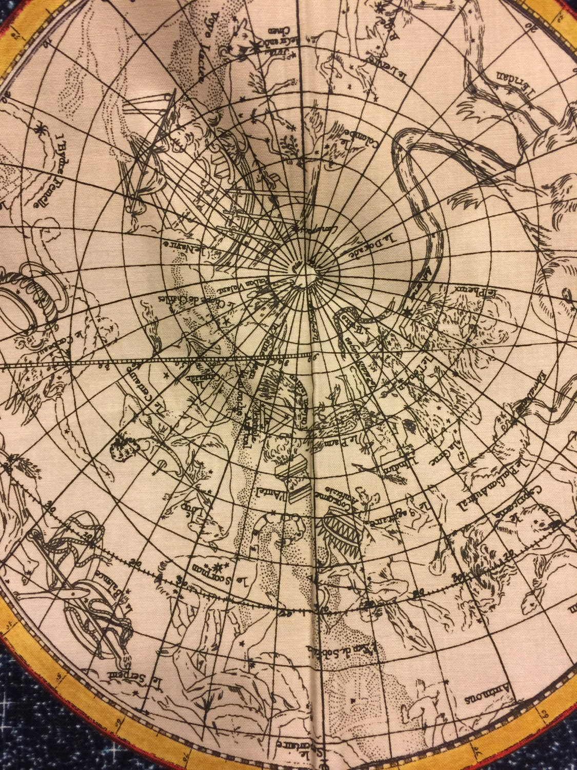 Map of constellations fabric from the galileo collection by 1000 gumiabroncs Gallery