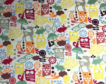Enchanted Forest pattern cotton Fabric By The Metre