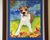 Custom Watercolor Pet Por...