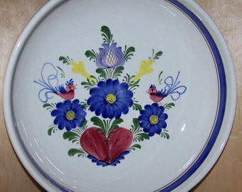 """9"""" Bowl Handpainted Ceramic in old world style made in Austria"""