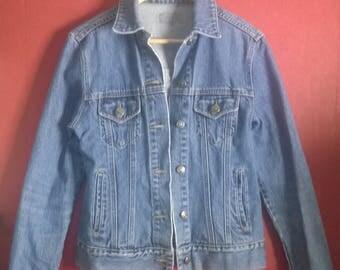 Vintage 90s JAcket denim Light Blue VINTAGE 1990s DENIMJACKET Light Blue button Up Size M
