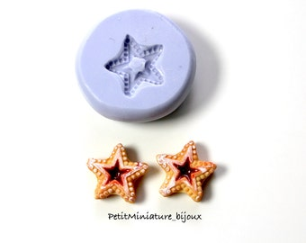 Mold Biscuit Star flexible silicone mold-3d polymer clay charm kawaii polymer clay jewelry soap plaster resin ST316