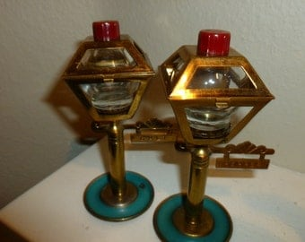 Vintage Lamp Post Salt And Pepper Shakers From The 1960's