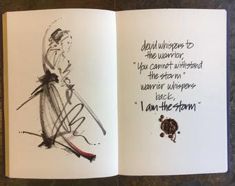 The devil and the storm inspiration -- marker and ink warrior art