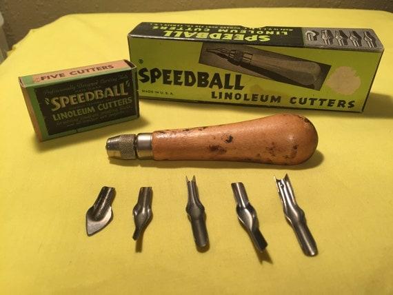 Vintage speedball linoleum cutting tools from panachebyash