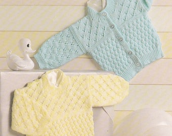 PDF baby sweater cardigan vintage knitting pattern pdf INSTANT download pattern only