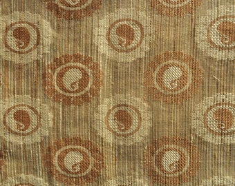 Discount fabric Sheer fabric Beige Jacquard fabric Brocade fabric sold by the yard