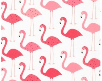 Cotton fabric by the yard - Fat quarter - Flamingo by Ann Kelle from Urban Zoologie - Flamingo Fabric - Urban Zoologie Collection