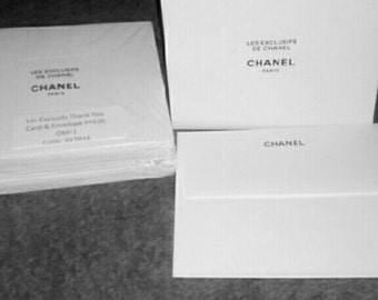 100% Authentic CHANEL 25 Blank Thank You Greeting Cards And 25 Envelopes