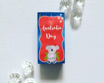 Australia Day smarties box cover