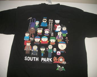 SOUTH PARK t shirt 1998 featuring full cast of characters!