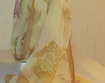 Elegant Basile Silk Chiffon Scarf