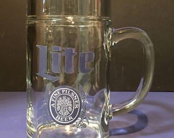 Vintage Large Lite A Fine Pilsner Beer Glass Mug