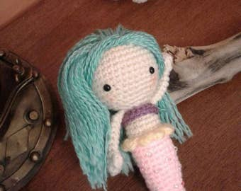 Crochet amigurumi mini mermaid doll