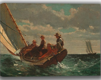 Winslow Homer: Breezing Up. Fine Art Canvas. (04100)