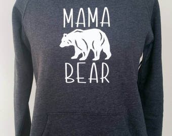Mama bear Hoodie. Very cozy! Dark grey size small