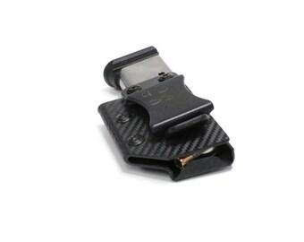 Magazine Pouches- Adjustable Retention and Fixed Clip- Carbon Fiber Black