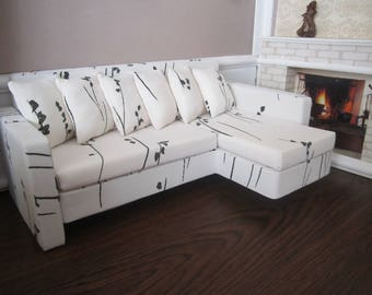 Designer Quality White BARBIE SOFA. Set of 7. The best gift for your Doll !