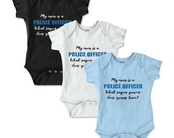 Police Officer New Parent Baby Shower Gifts Funny Saying Baby Romper Bodysuit