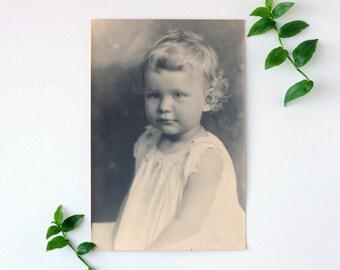 Antique Photograph, Antique Baby Portrait, Toddler Portrait, Antique Print, Child Photograph