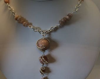 wire wrapped Sunstone necklace