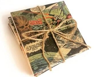 Superhero Coasters - Comic Book Ceramic Coasters- Geek Gift -Drinkware - Wedding Gift - Housewarming Gift - Nerd Gifts - Superhero Art