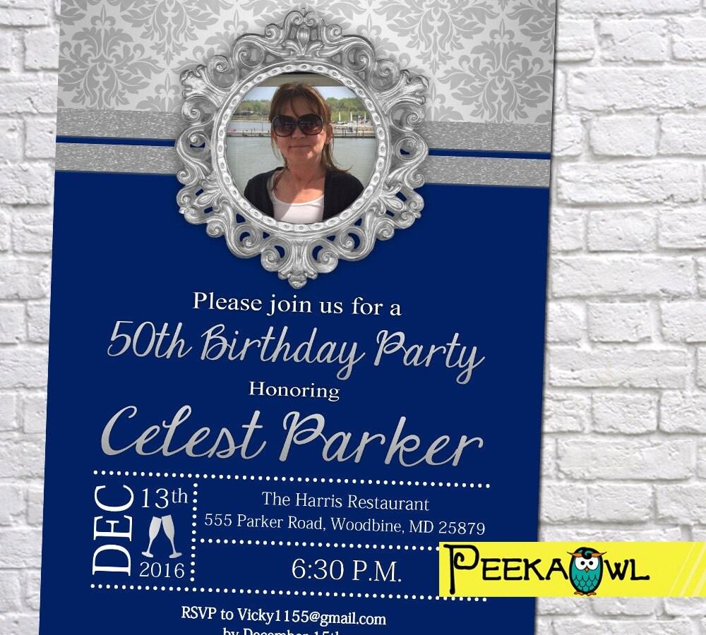 Personalized 50th Birthday Invitations 30th/ 40th / 60th