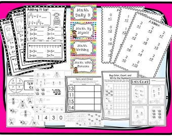 Math Curriculum Download. Preschool-Kindergarten. Worksheets and Activities in PDF files.