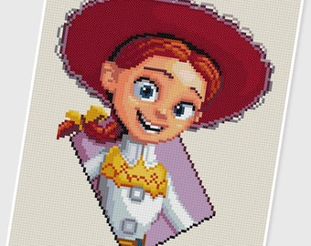 PDF Cross Stitch pattern - 0049.Jessie ( Toy Story ) - INSTANT DOWNLOAD