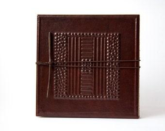Leporello Leather Tribù-Photo album accordion, album accordion, Brown