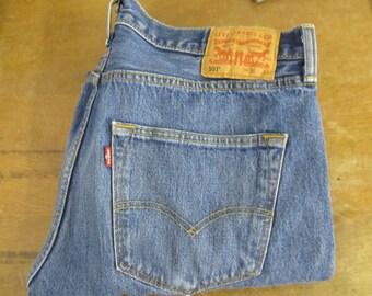 "Vintage 501 RedTab Levi's Button Fly Straight Leg 36"" x 30"""