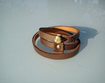Metallic Brown wrap bracelet