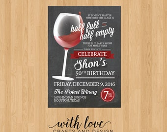 Wine Birthday Invitation