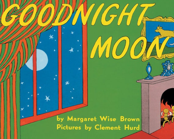 Book Cover For Children : Vintage book cover print goodnight moon