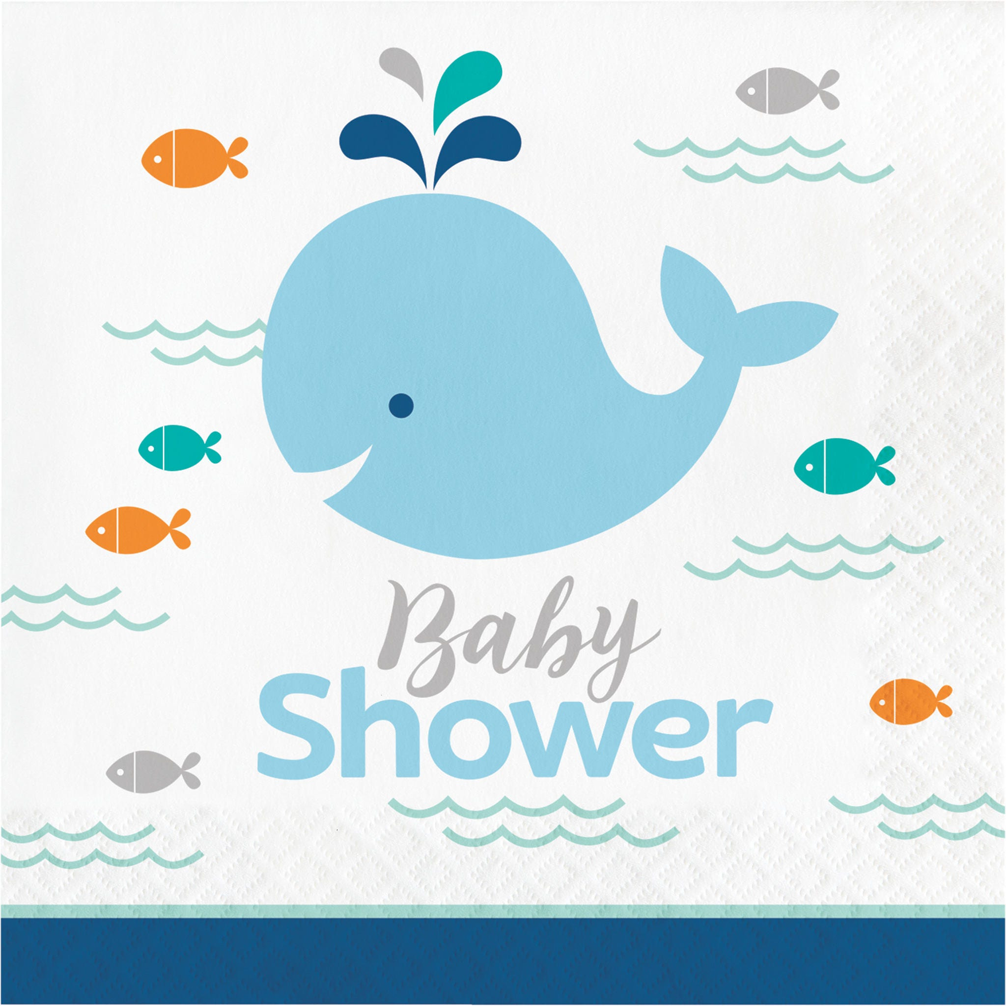 My Whale Boy Baby Shower Napkins Whale Party Whale theme baby