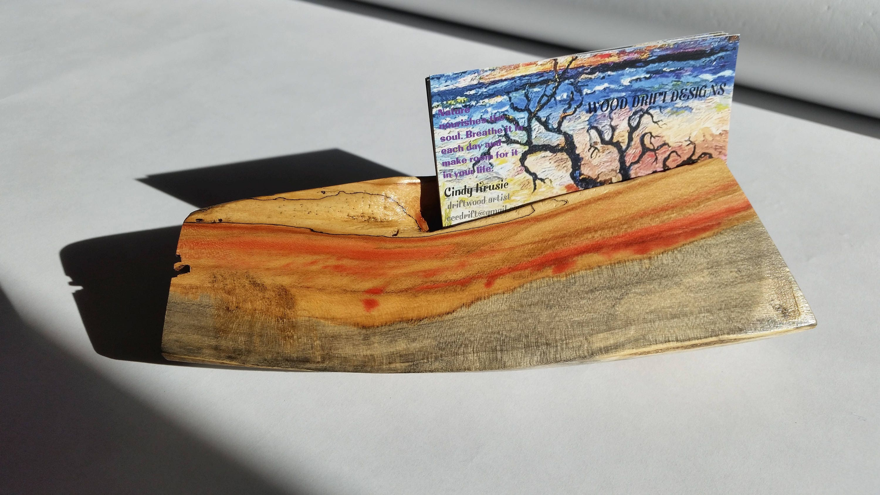 business card holder driftwood business card holder wood business