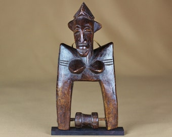African Art, Pulley of the Sénoufo Tribe from Côte d'Ivoire