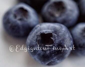 Blueberry Photo Still Life Photography Blueberries Kitchen Decor Blueberry Photo Blue