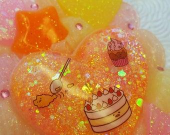 Kawaii Lazy Egg peach yellow pink Samsung Galaxy s8+ plus phone case rainbow pastel