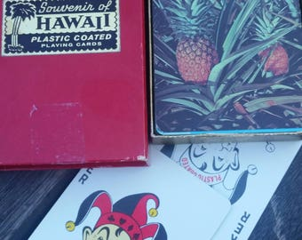 vintage deck of HAWAII ISLANDS  Playing Cards in original box