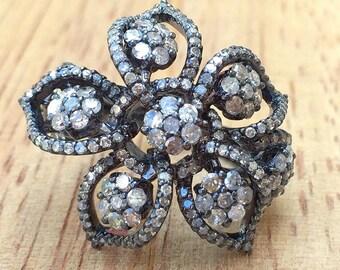 ON SALE! 2.53 Carat Diamond Flower Ring