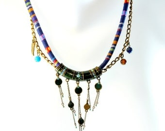 Necklace ethnic Native American vintage pendant