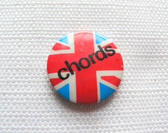 Vintage Late 70s to Early 80s - The Chords - British Power Pop Band - Pin / Button / Badge
