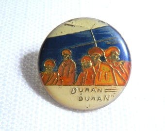 Vintage Early 80s Duran Duran Enamel Pin / Button / Badge